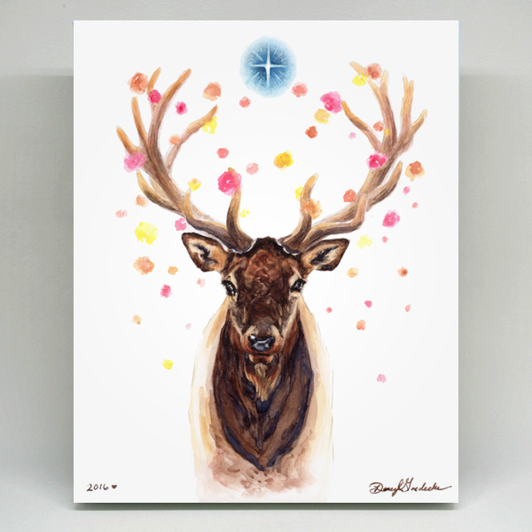 Stardust the Elk print by Darcy Goedecke