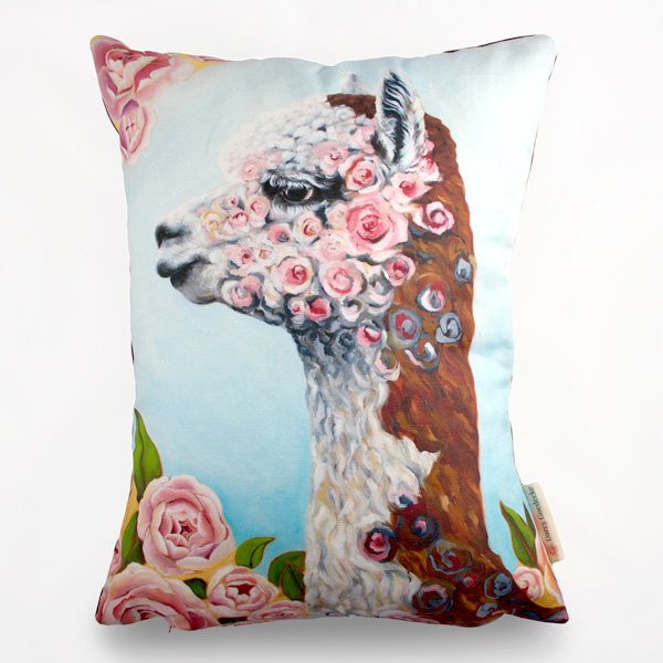 Alpaca Pillow by Darcy Goedecke