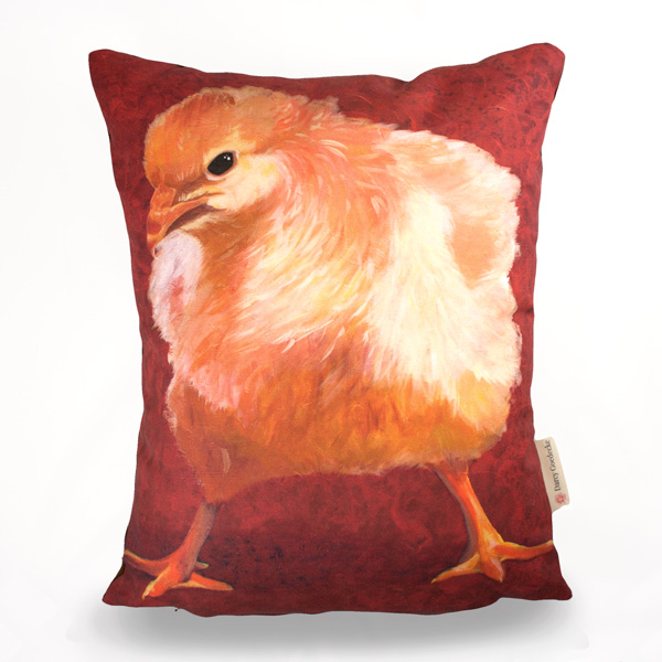Badass Chick #1 Pillow by Darcy Goedecke