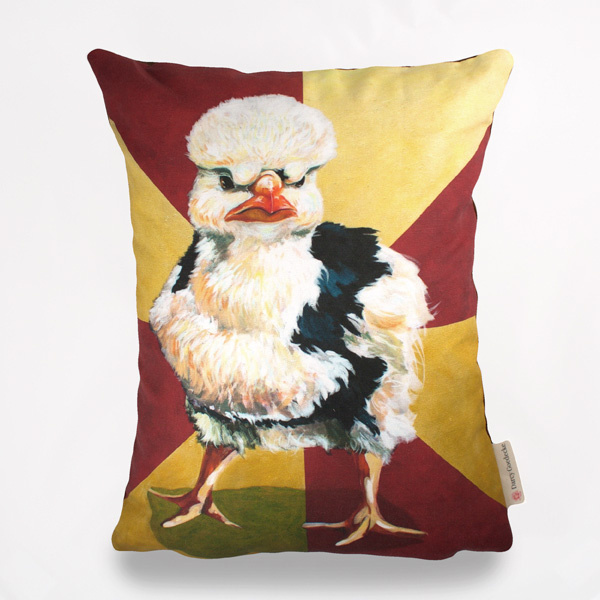 Badass Chick #2 Pillow by Darcy Goedecke