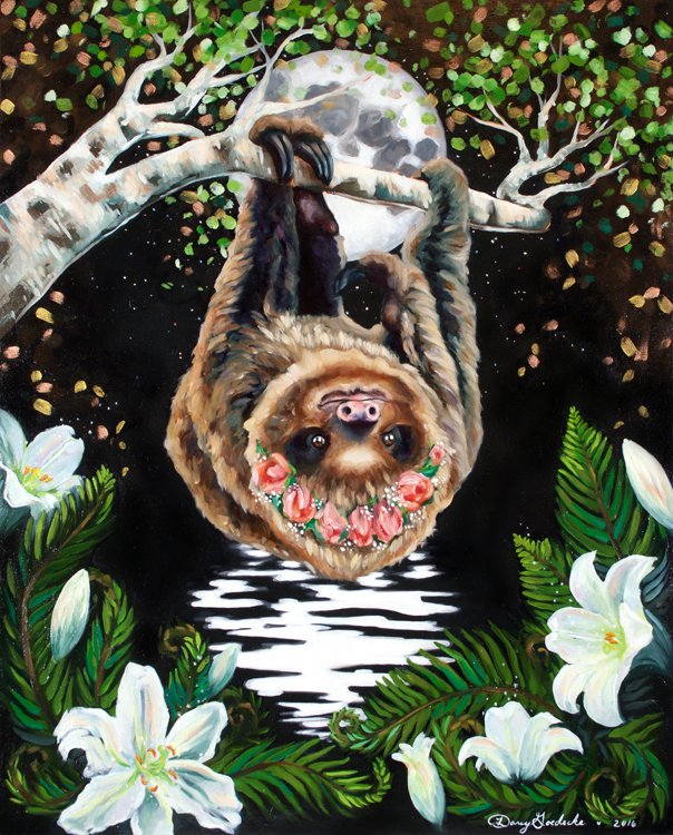 Midnight Sloth by Darcy Goedecke