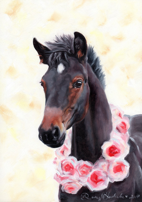 Teagan – Horse painting by Darcy Goedecke