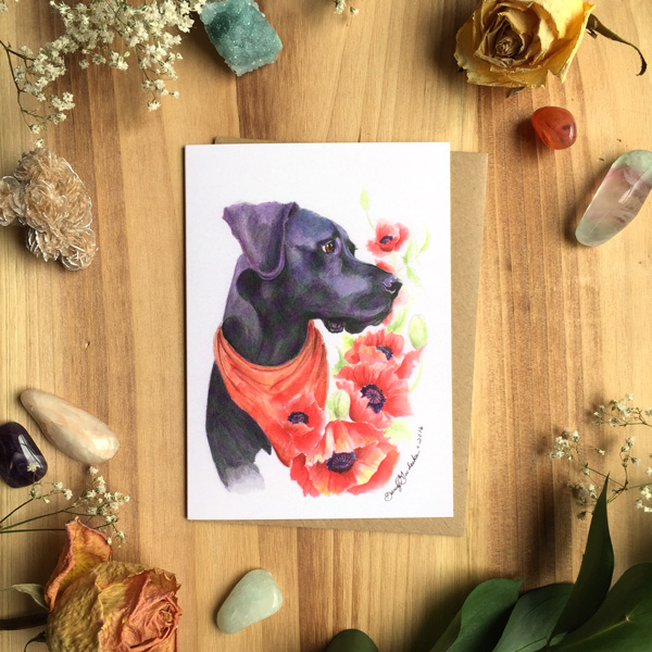 Dino Poppies Greeting Card by Darcy Goedecke