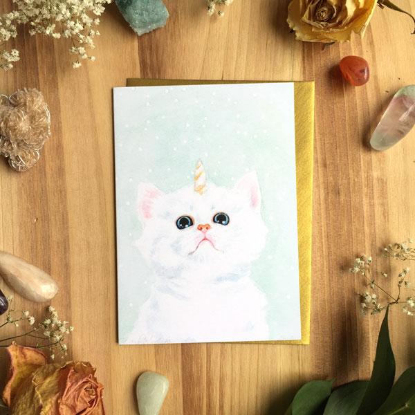 Kitticorn Card by Darcy Goedecke