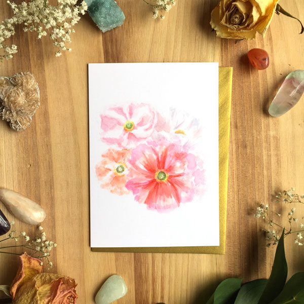 Love Poppies Card by Darcy Goedecke