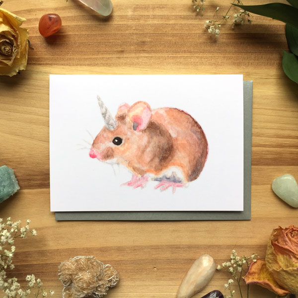 Mousicorn Card by Darcy Goedecke