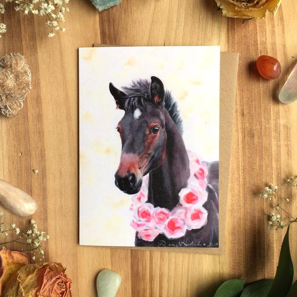 Horse Card by Darcy Goedecke