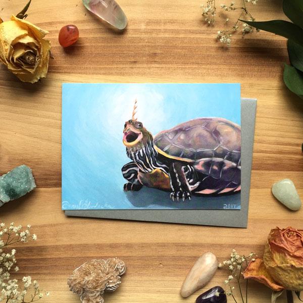 Turtlecorn Card by Darcy Goedecke