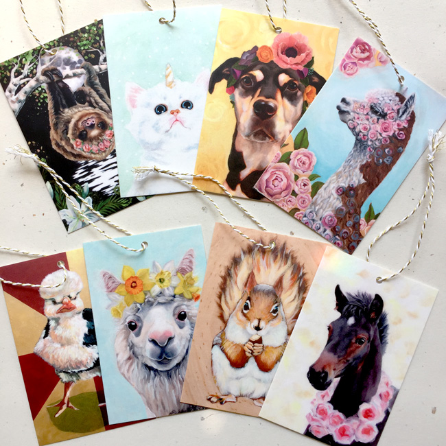 Variety pack of gift tags by Darcy Goedecke