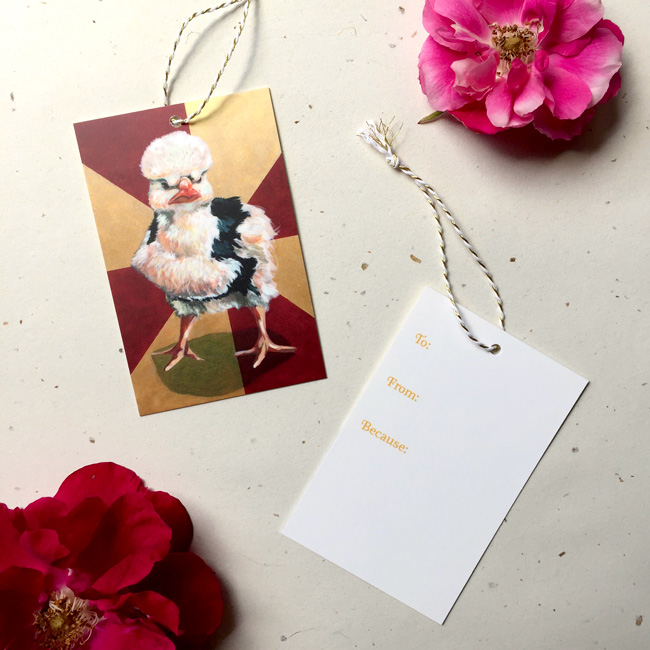 Badass Chick #2 Gift Tag by Darcy Goedecke