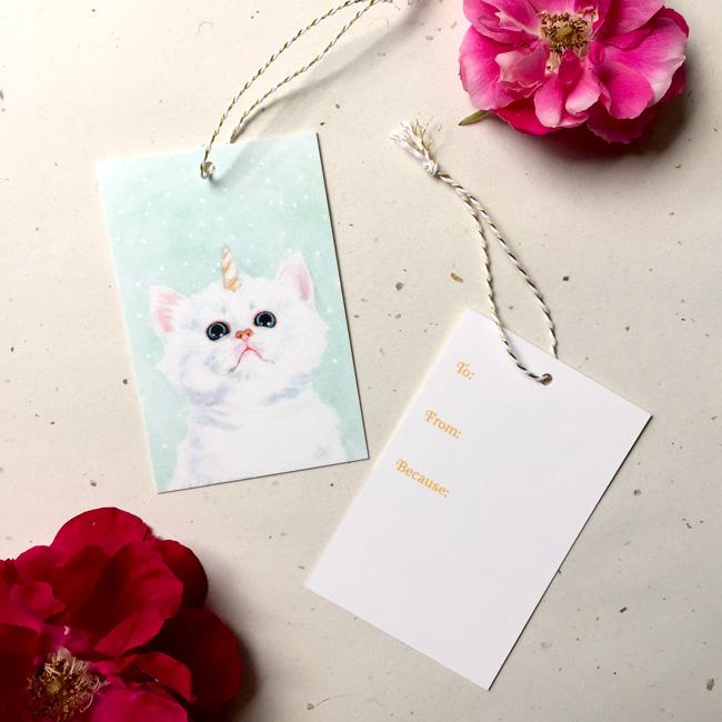 Kitticorn Gift Tag by Darcy Goedecke