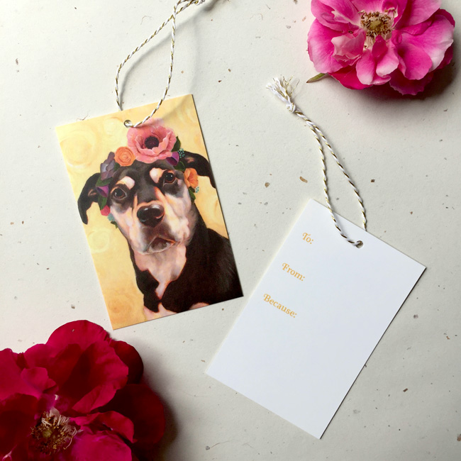 Luna Kahlo Gift Tag by Darcy Goedecke
