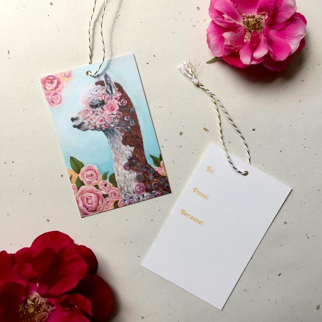 Rosie the Alpaca Gift Tag by Darcy Goedecke