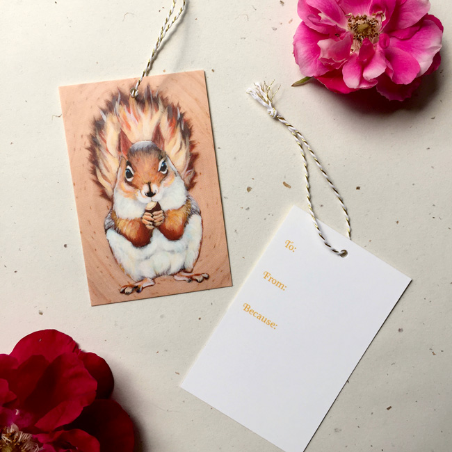 Squee Gift Tag by Darcy Goedecke