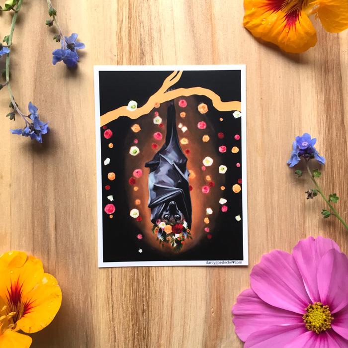 Batty Koda Sticker by Darcy Goedecke