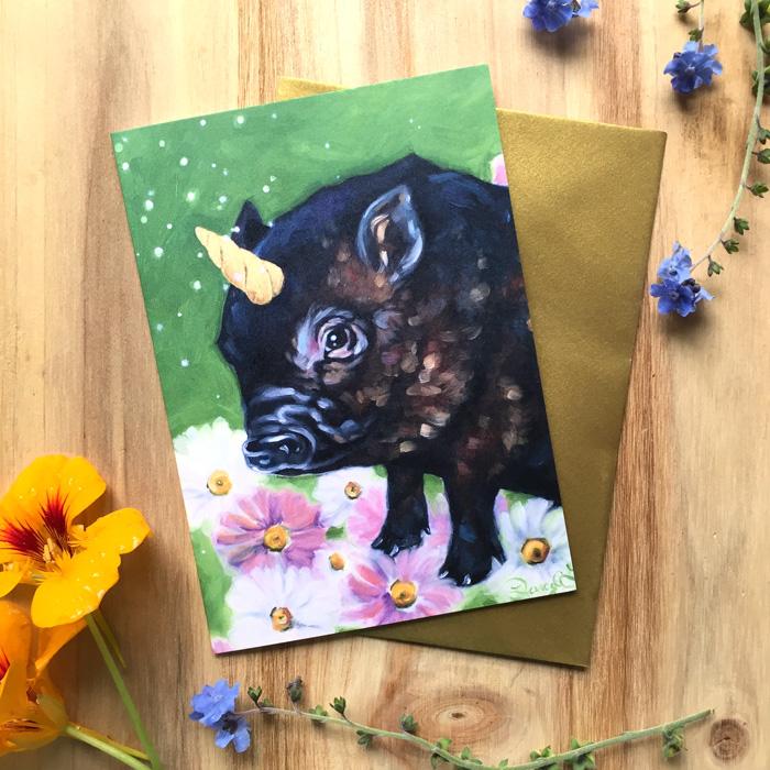 Piggicorn Card by Darcy Goedecke