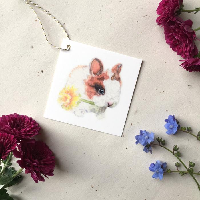 Bunnicorn Gift Tag by Darcy Goedecke