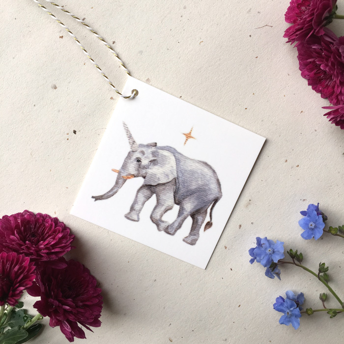 Elecorn Gift Tag by Darcy Goedecke