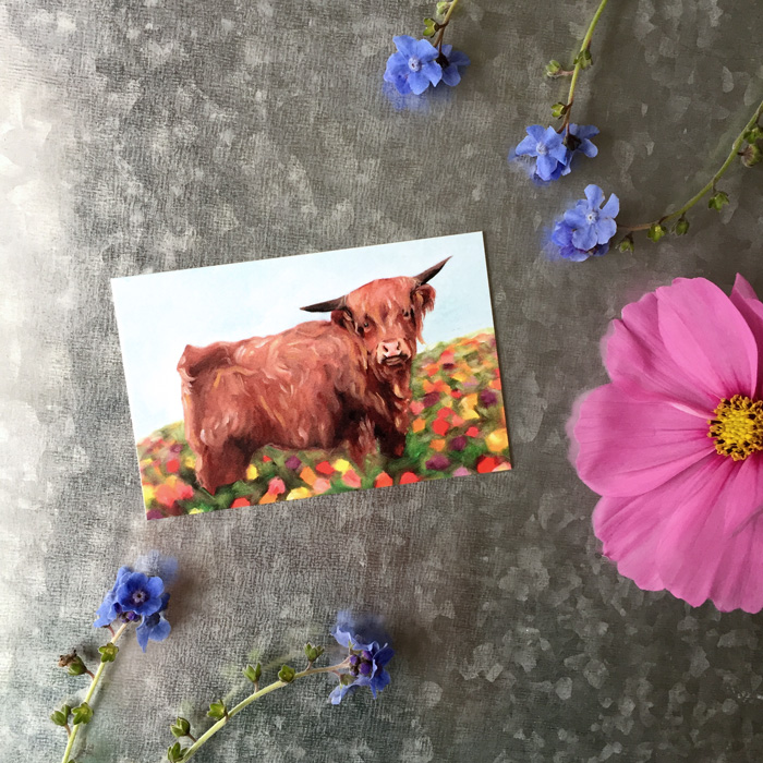 Highland Cow Magnet by Darcy Goedecke