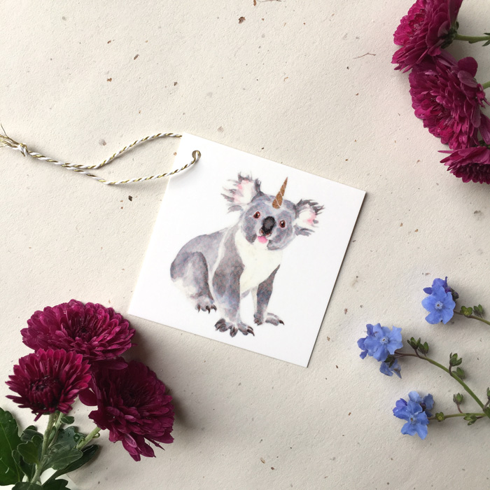 Koalakorn Gift Tag by Darcy Goedecke