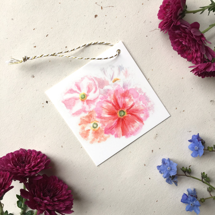 Love Poppies Gift Tag by Darcy Goedecke