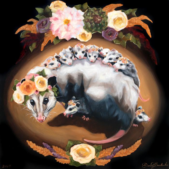 Opossum Mama by Darcy Goedecke