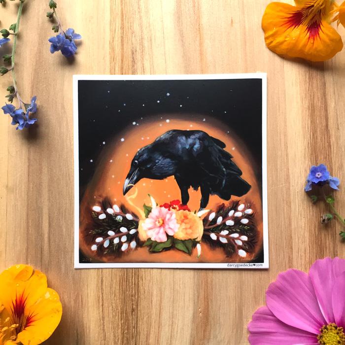 Rogue Raven Sticker by Darcy Goedecke