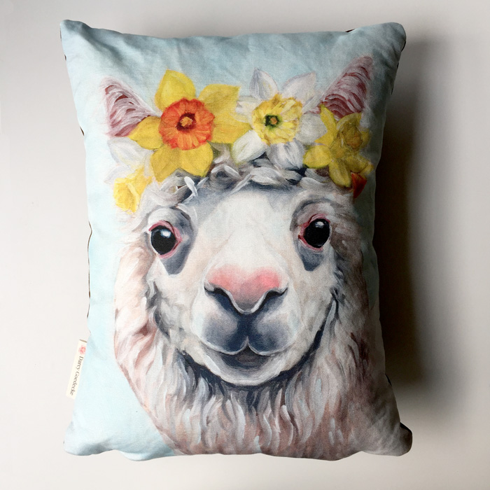Daffodil Alpaca Pillow by Darcy Goedecke