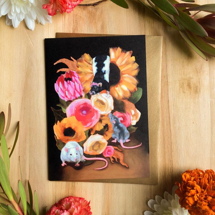 A Mischief Card by Darcy Goedecke