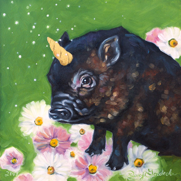 Piggicorn | Oil Painting by Darcy Goedecke