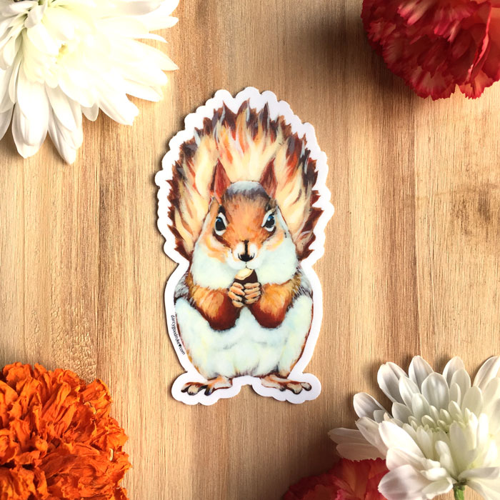 Squirrel Sticker by Darcy Goedecke