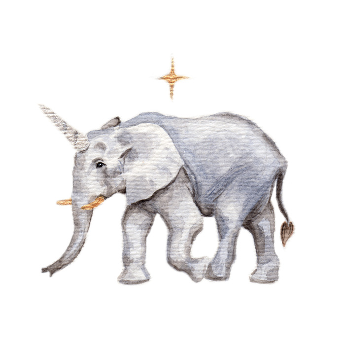 Uniphant | Watercolor by Darcy Goedecke