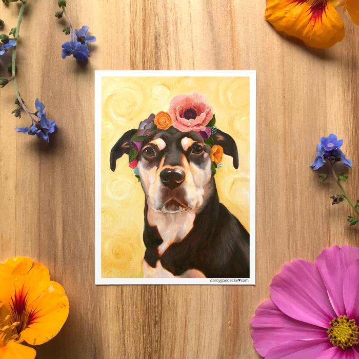 Luna Kahlo Sticker by Darcy Goedecke