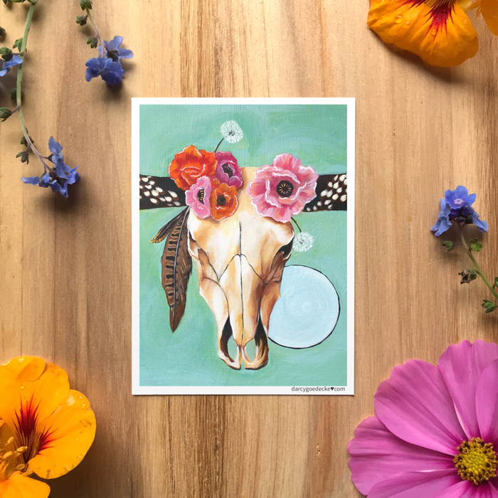 Petal & Bone Sticker by Darcy Goedecke