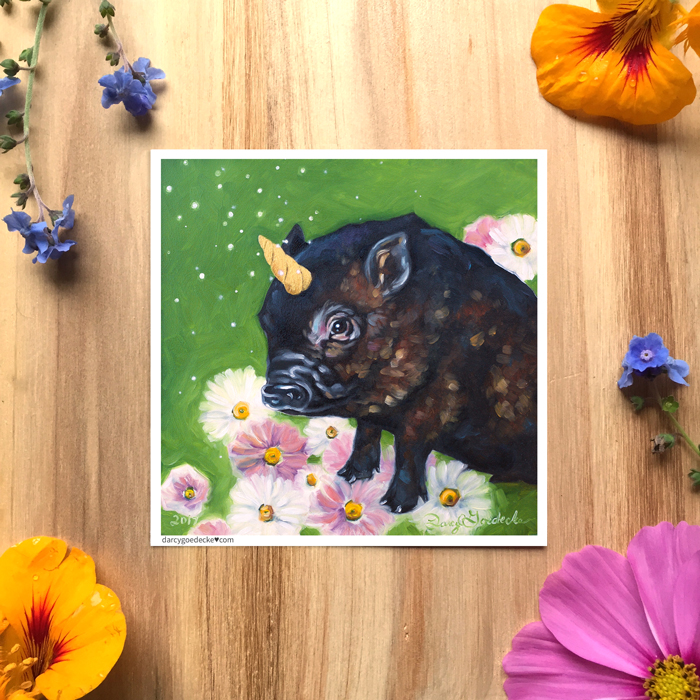 Piggicorn Sticker by Darcy Goedecke