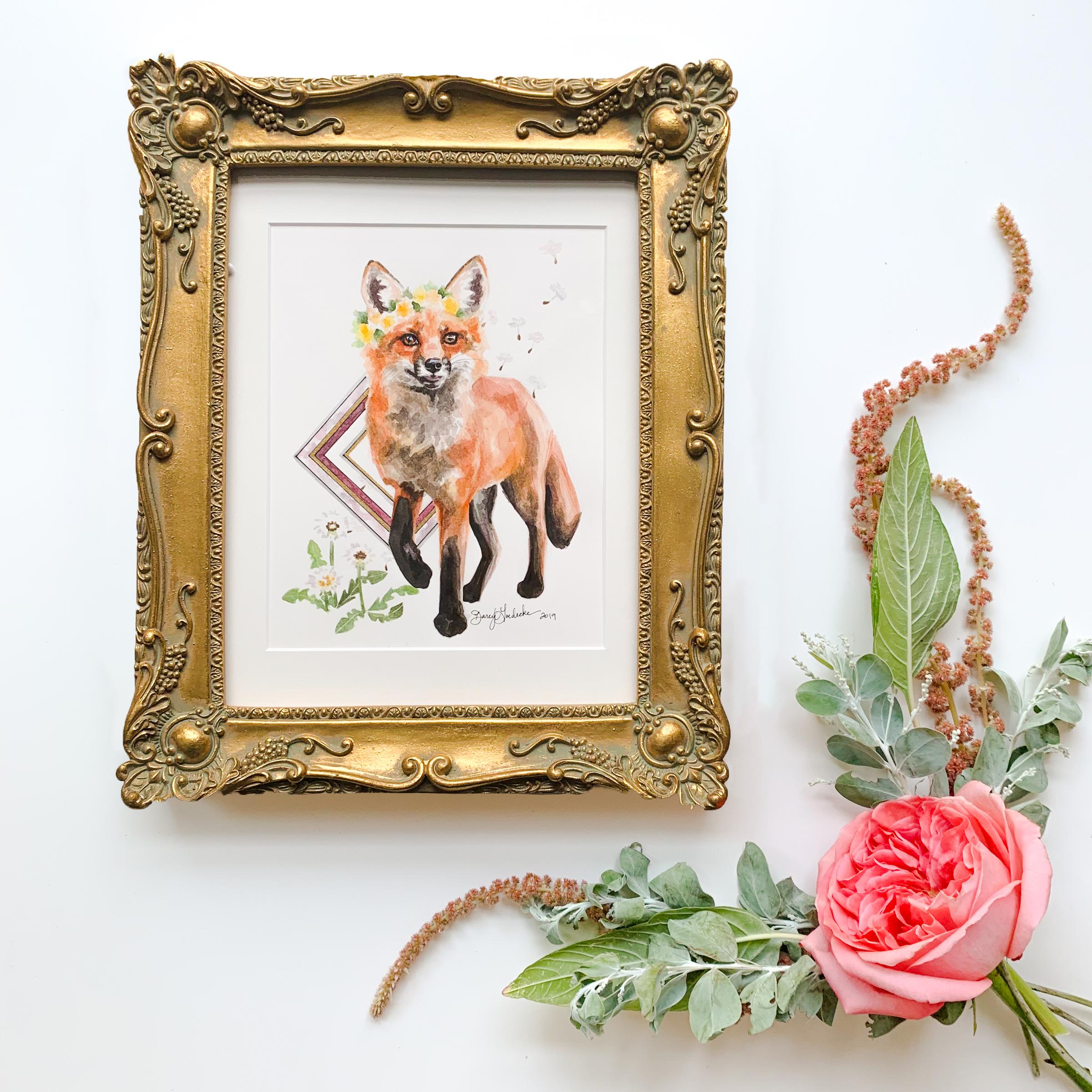 Dandelion Fox by Darcy Goedecke