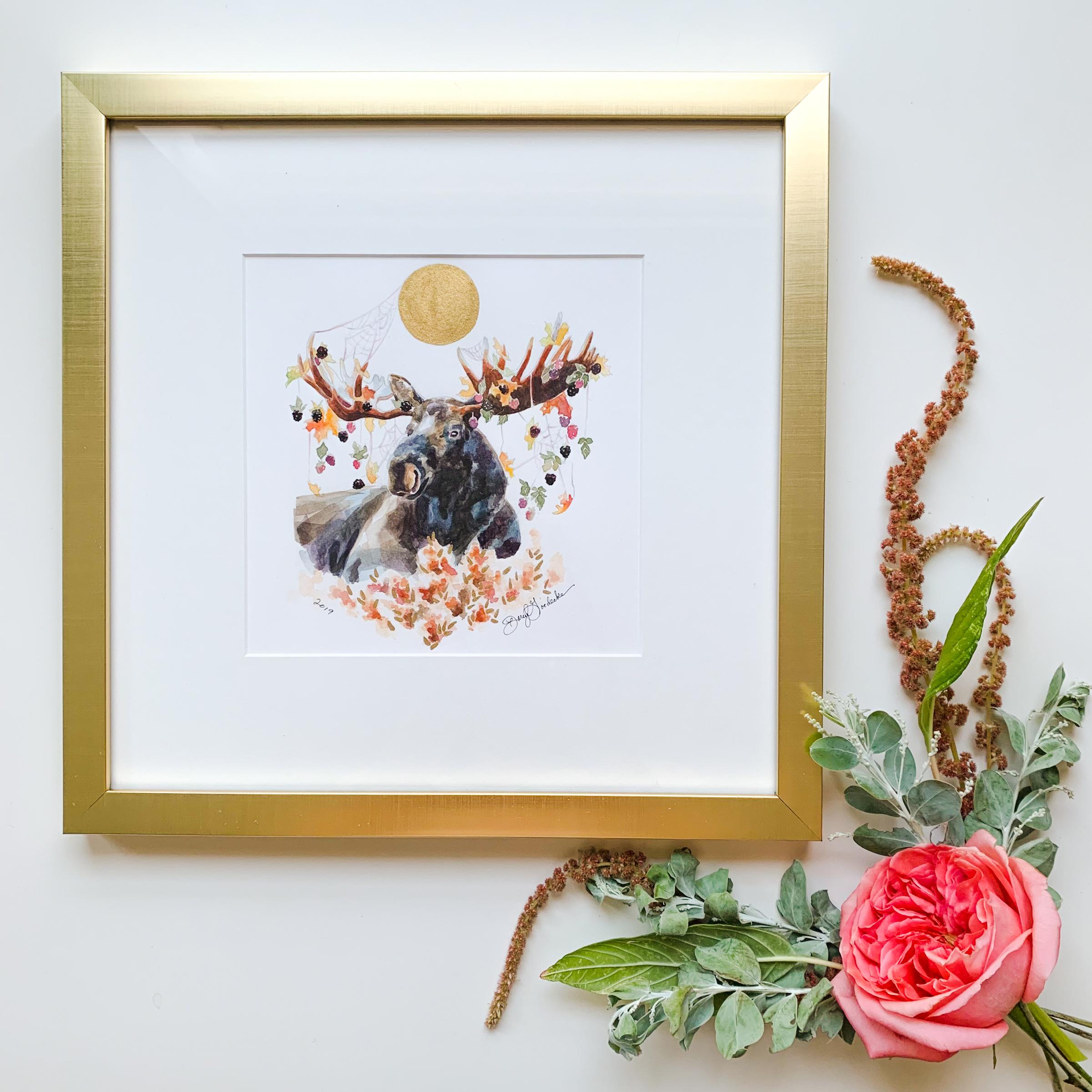 Moose Watercolor by Darcy Goedecke