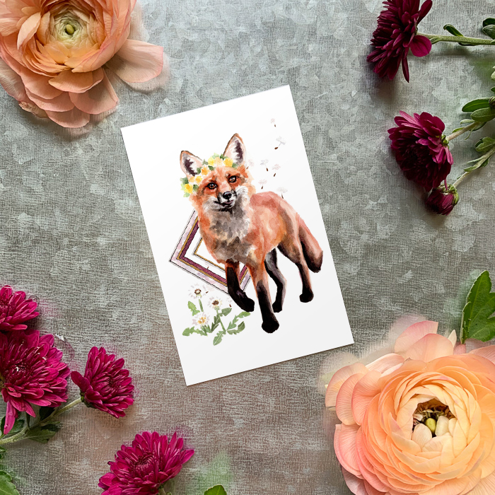 Dandelion Fox Magnet by Darcy Goedecke