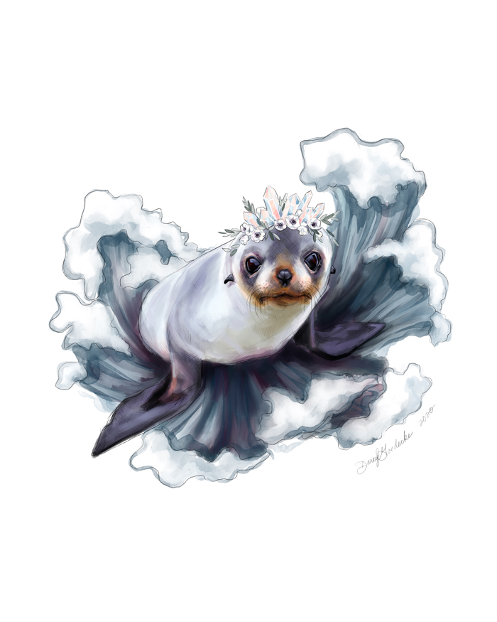 Baby Seal by Darcy Goedecke