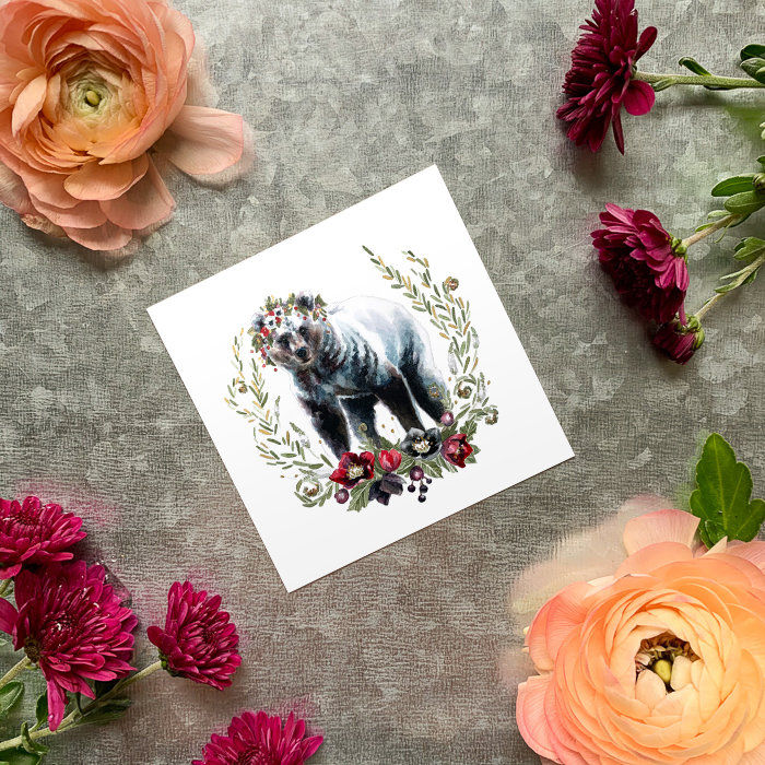 Hellebears Silver Bear Magnet by Darcy Goedecke
