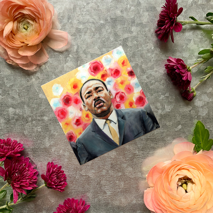 King – MLK Magnet by Darcy Goedecke