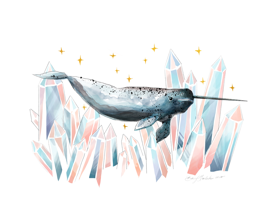 Crystal Narwhal by Darcy Goedecke