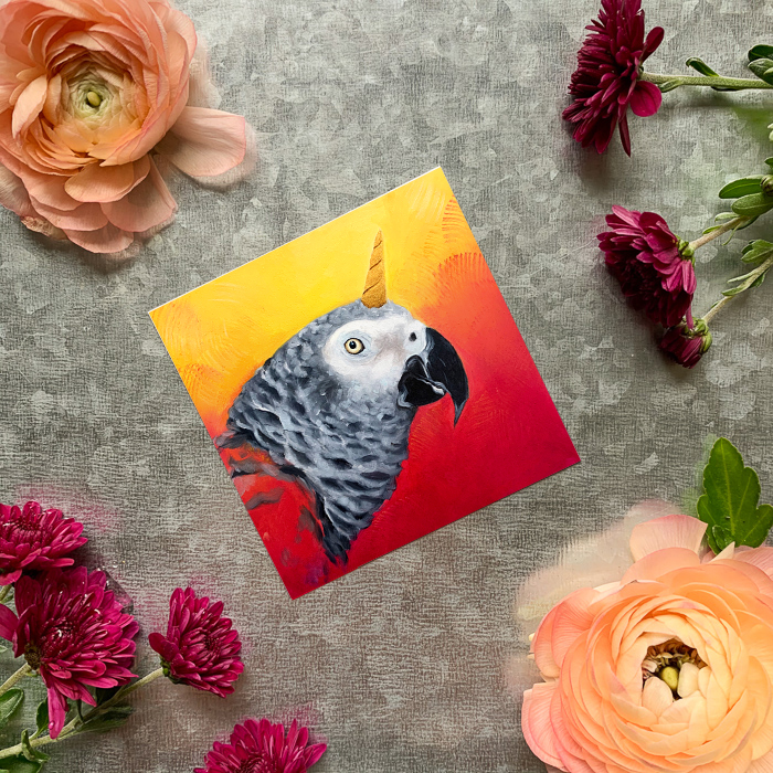 Shanticorn Parrot Magnet by Darcy Goedecke