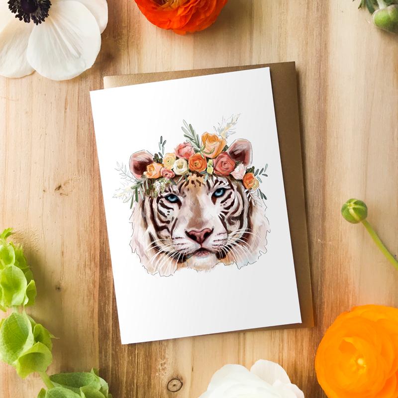 Tigress Card by Darcy Goedecke
