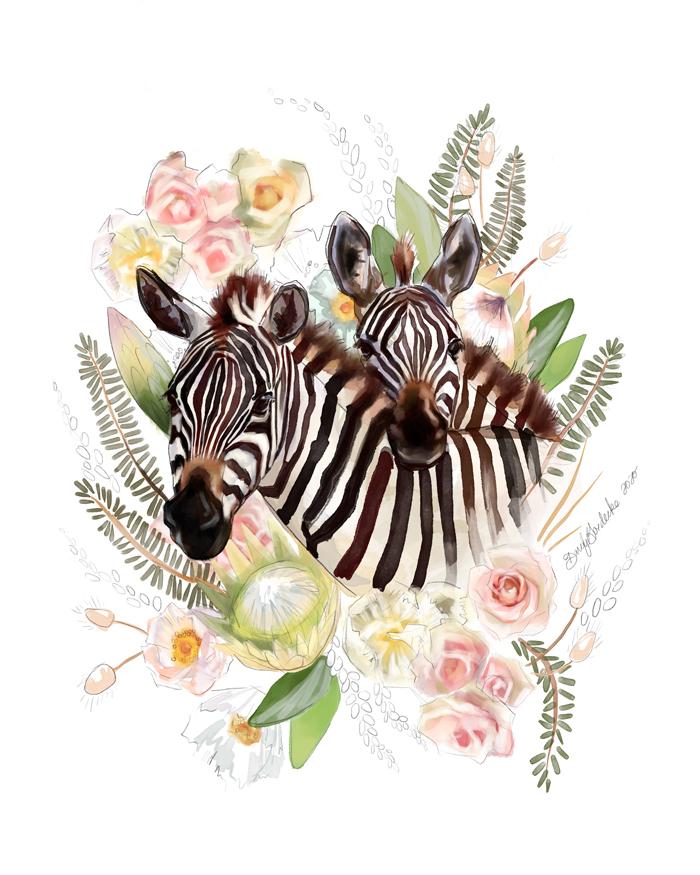 Zebra Friends by Darcy Goedecke