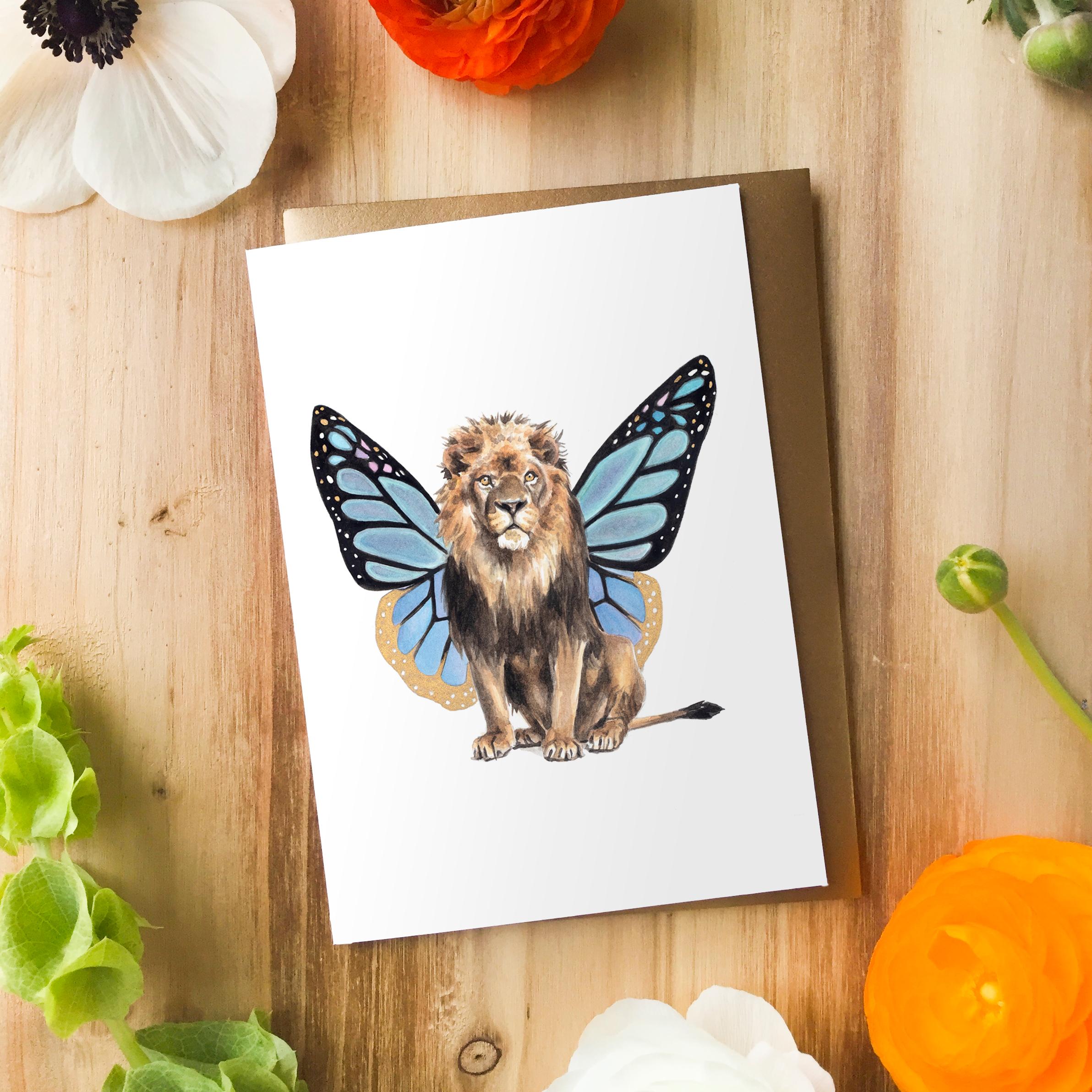 Flutter Lion Card