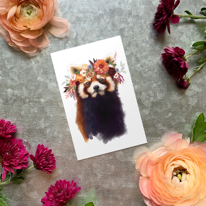 Red Panda Magnet by Darcy Goedecke