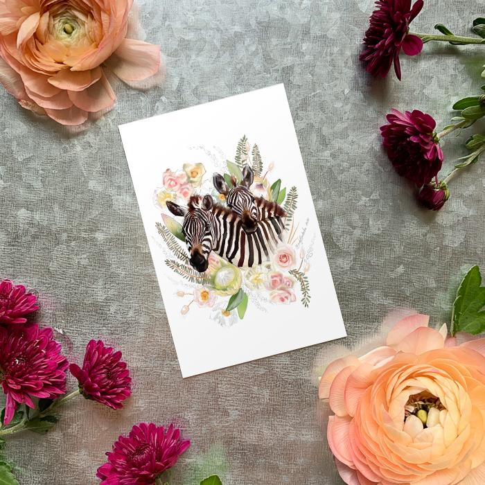 Zebra Magnet by Darcy Goedecke