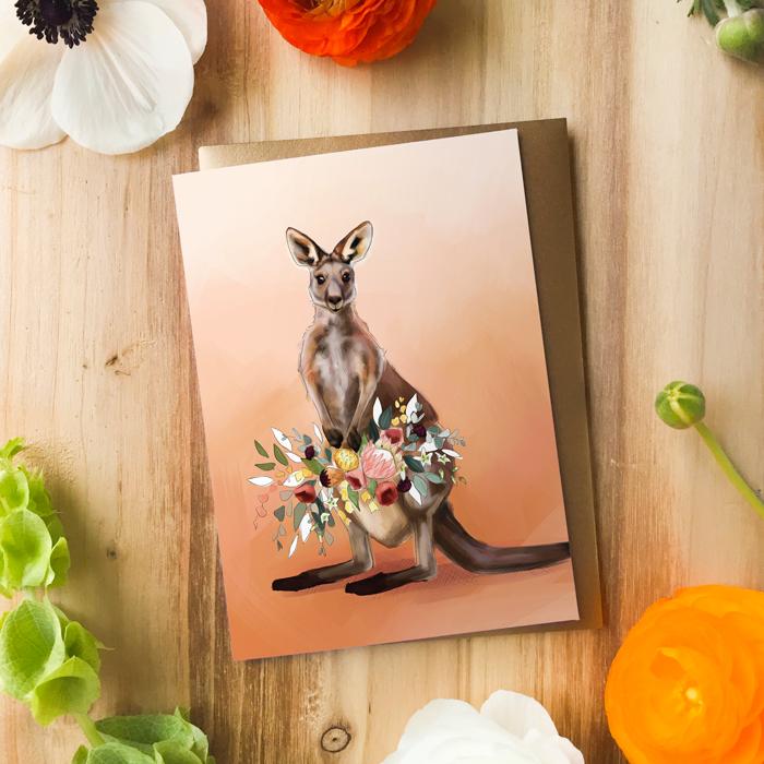 Kangaroo Card by Darcy Goedecke