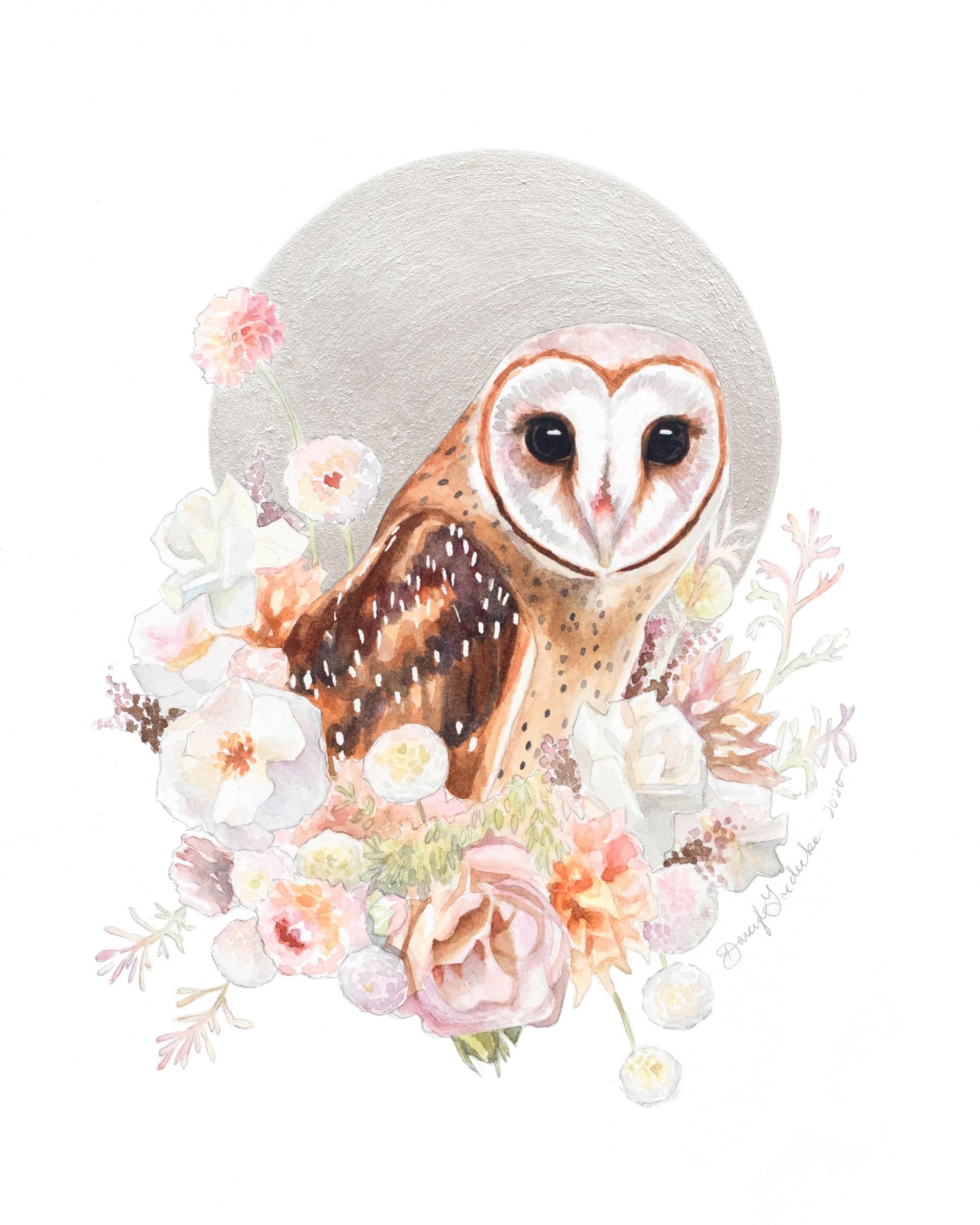 Pearl Owl by Darcy Goedecke